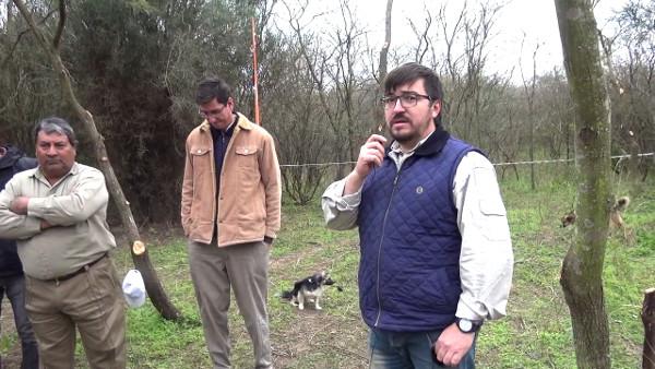 Lic Víctor Galeano hablando sobre manejo de bosques nativos en General Pinedo
