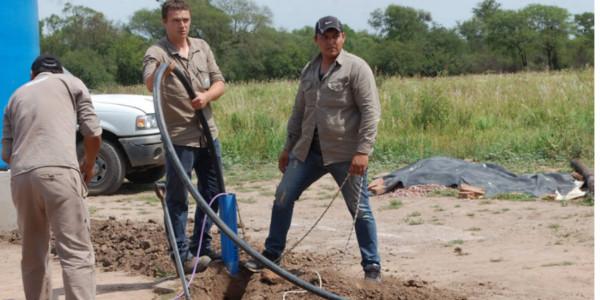 Obras para proveer de agua a Las Tolderías.