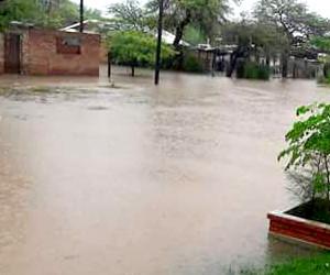 Lluvias que provocaron anegamientos en Añatuya