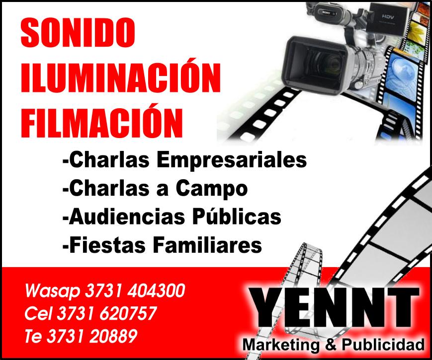 yennt sonido iluminación y filmación