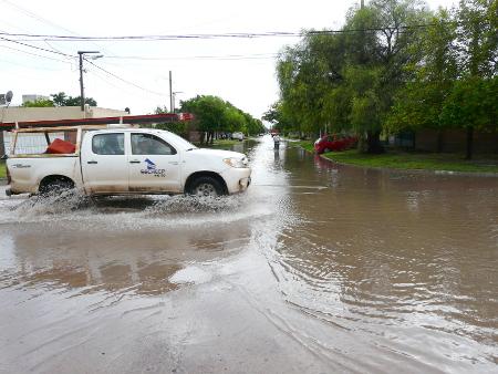 Complicaciones generadas en Charata por las precipitaciones en Diciembre de 2014.
