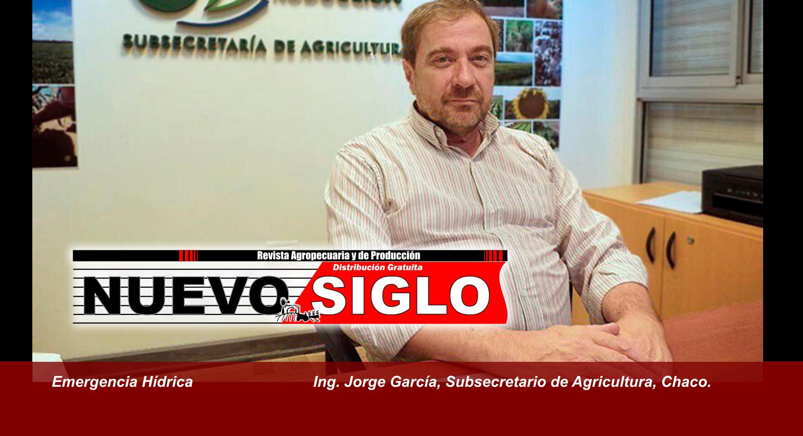 El Ing Jorge Garcia, subsecretario de Agricultura del Chaco, analiza el impacto de las inundaciones en el agro chaqueño.