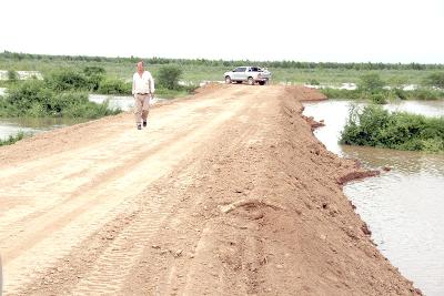 Precopación en Formosa por la crecida del Río Pilcomayo