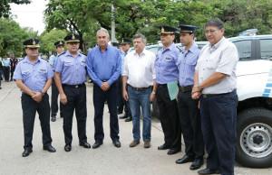 Peppo entregó patrulleros a la Policía del Chaco.
