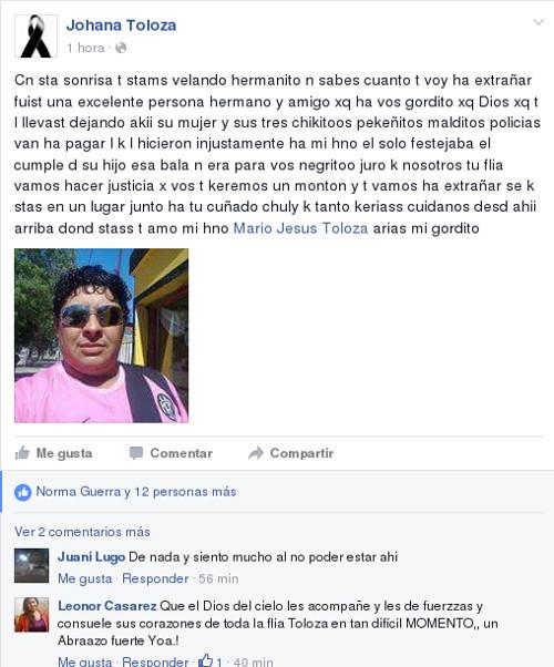Muerte de Mario Toloza en Charata por bala perdida