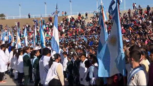 Acto de Jura de Lealtad a la Bandera en Charata, 2018
