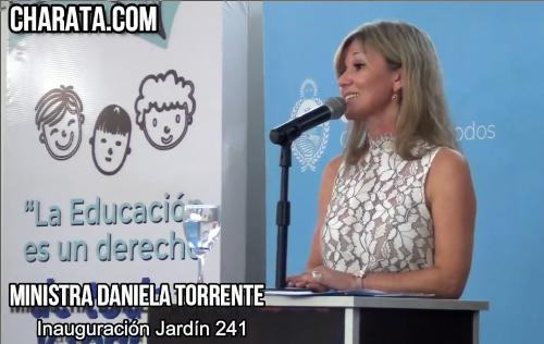 La Ministra de Educación, Daniela Torrente, en el inicio del Ciclo Lectivo del Nivel Inicial en Charata.