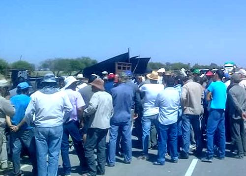 Corte de 13 Ruta Mesón de Fierro Chaco, problema de inundación