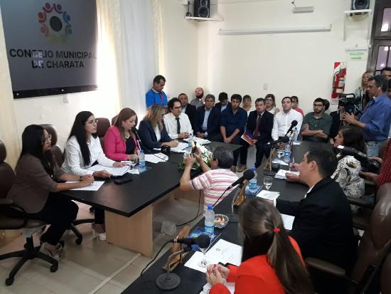 Chomiak en el discurso de inicio de sesiones del Consejo Deliberante de Charata