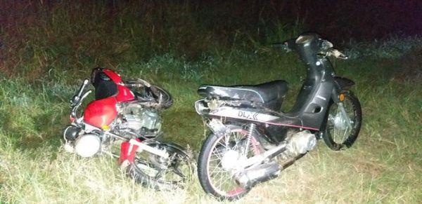 Colisión de varias motos sobre la Ruta 95 entre Du Graty y Villa Ángela