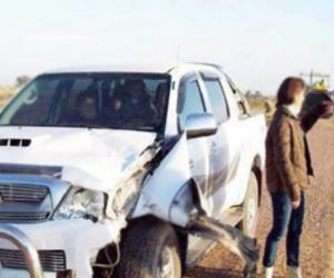 Choque de Toyota con caballo en Ruta 89 Quimilí
