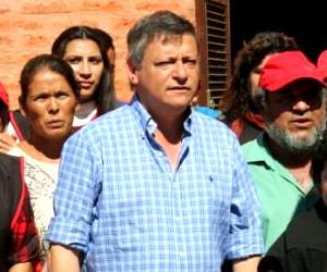 Domingo Peppo en el día del trabajador en San Bernardo