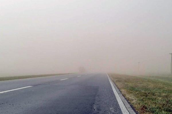 Cambio de tiempo en Charata con viento del sur y solo tierra