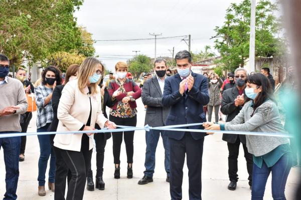 Inauguran obras en Charata, en el marco de los 106 años.