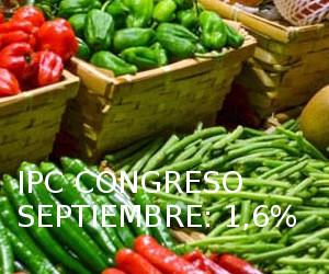 IPC Congreso Septiembre, 1,6%