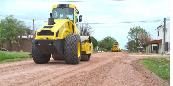 La municipalidad de Charata en plan de recuperación de calles de ripio