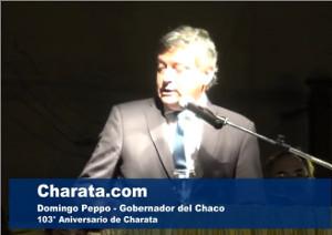 Domingo Peppo en el aniversario de Charata 2017