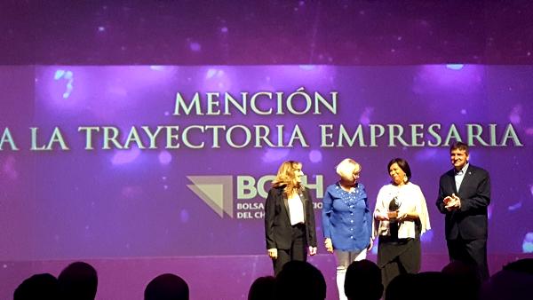 Mención a la Trayectoria Empresarial 2017 para Silvia Sánchez de Charata.