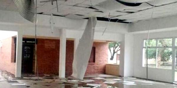 Destrozos por temporal en Escuelas del Sudoeste del Chaco