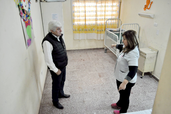 El municipio realiza aportes al hospital de General Pinedo.