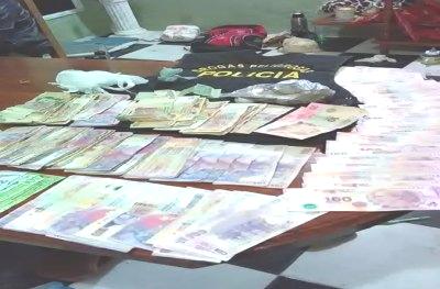 secuestro de drogas y dinero de narcotrafico